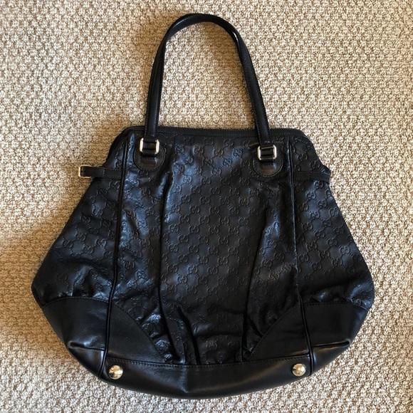 d78a49861f6 Gucci Handbags - Gucci Guccissima Full Moon Leather Shoulder Bag